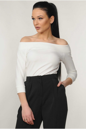 Блуза «Эшли» белого цвета