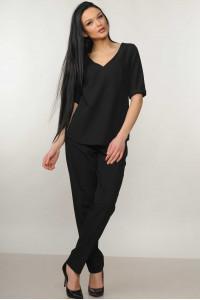 Блуза «Амбер» черного цвета