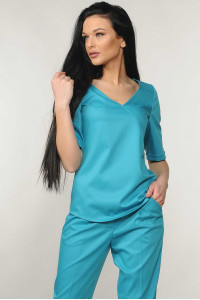 Блуза «Амбер» бирюзового цвета