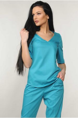Блуза «Амбер» бірюзового кольору