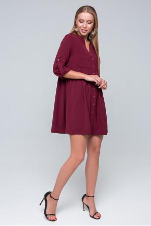 Платье-рубашка «Герда» цвета бордо