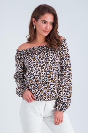 Блуза «Тріксі» з леопардовим принтом