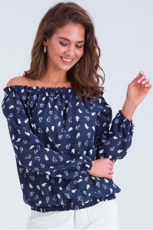 Блуза «Тріксі» синьо-білого кольору
