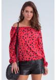 Блуза «Тріксі» коралового кольору