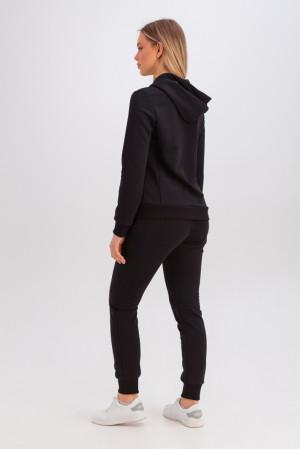 Спортивный костюм «Аура» черного цвета
