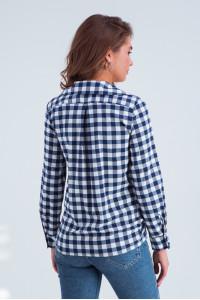 Рубашка «Агата» сине-белого цвета