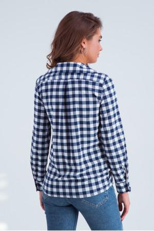 Сорочка «Агата» синьо-білого кольору