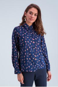 Рубашка «Энди» сине-розового цвета