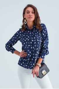 Рубашка «Энди» сине-белого цвета