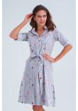 Сукня-сорочка «Тіана» синього кольору