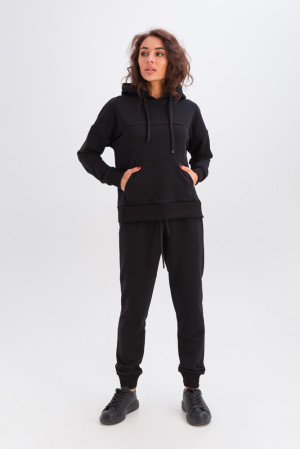 Спортивний костюм «Ешлі» чорного кольору
