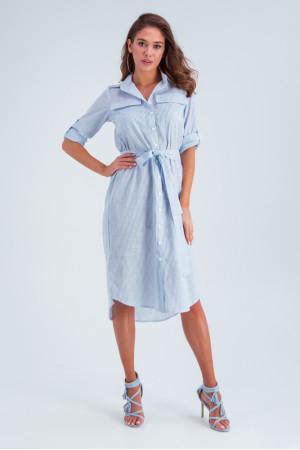 Платье «Лорин» голубого цвета