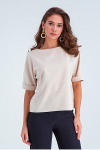 Блуза «Белль» бежевого кольору