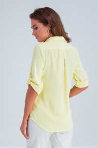 Рубашка «Амалия» желтого цвета