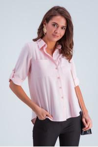 Рубашка «Амалия» розового цвета