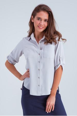 Рубашка «Амалия» серого цвета