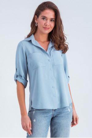 Сорочка «Амалія» блакитного кольору