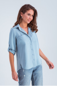 Рубашка «Амалия» голубого цвета