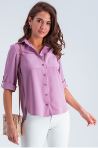Рубашка «Амалия» сиреневого цвета