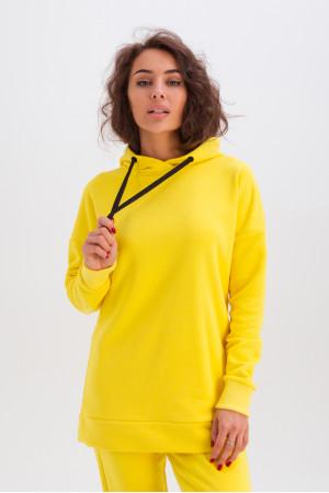 Спортивный костюм «Дина» желтого цвета