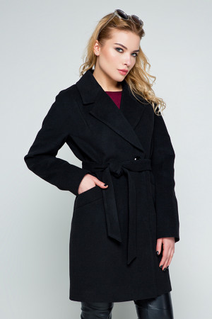 Жіноче пальто «Тейлор» чорного кольору