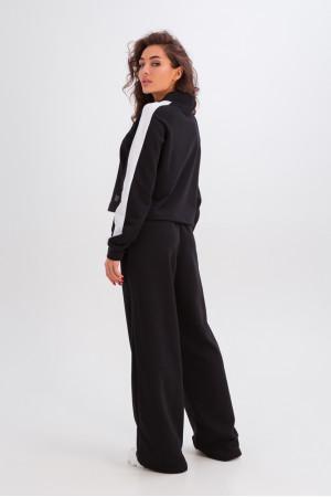 Спортивный костюм «Мэрайя» черного цвета