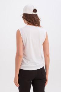 Майка «Арабелла» білого кольору з принтом «два фламінго»