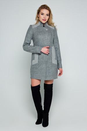 Женское пальто «Нора» серого цвета