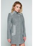 Жіноче пальто «Нора» сірого кольору