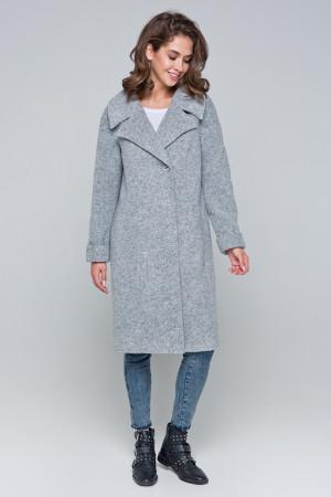 Жіноче пальто «Ронні» світло-сірого кольору