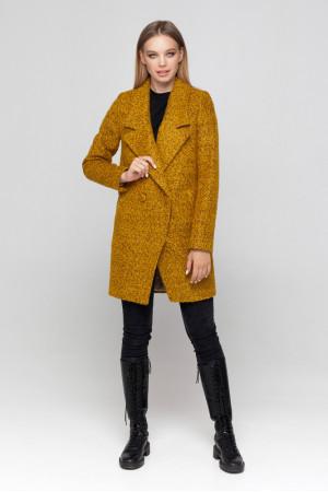 Женское пальто «Долорес» горчичного цвета