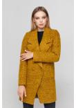 Жіноче пальто «Долорес» гірчичного кольору