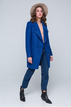 Женское пальто «Долорес» синего цвета