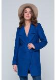 Жіноче пальто «Долорес» синього кольору