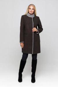 Жіноче пальто «Табіта» коричневого кольору
