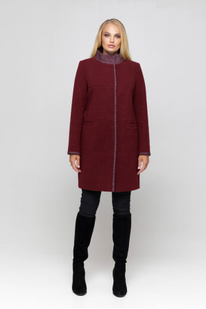 Жіноче пальто «Табіта» бордового кольору
