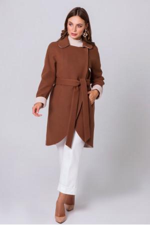 Жіноче пальто «Кім» коньячного кольору