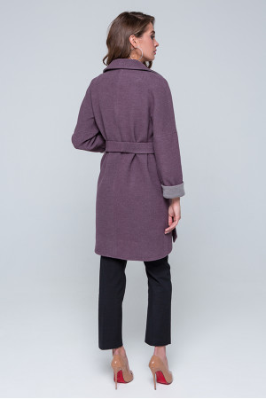 Жіноче пальто «Кім» сливового кольору
