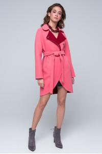 Женское пальто «Ким» розового цвета