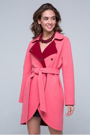 Жіноче пальто «Кім» рожевого кольору