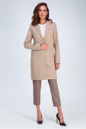 Женское пальто «Бьянка» бежевого цвета