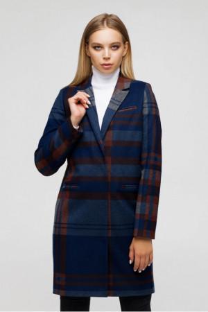 Жіноче пальто «Бьянка» сіро-синього кольору