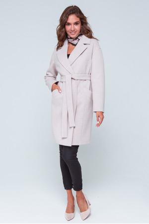 Жіноче пальто «Джил» кольору пудри