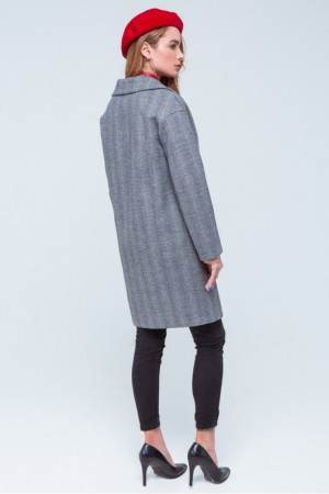 Жіноче пальто «Джил» чорно-білого кольору