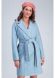 Жіноче пальто «Джил» блакитного кольору