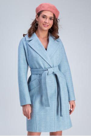 Женское пальто «Джил» голубого цвета