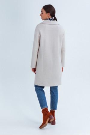 Жіноче пальто «Джил» світло-бежевого кольору