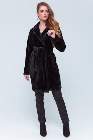 Женская шуба «Монро» черного цвета
