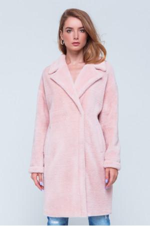 Женская шуба «Монро» розового цвета