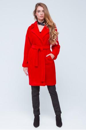 Женская шуба «Монро» красного цвета